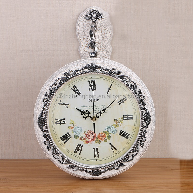 European style retro double wall clock