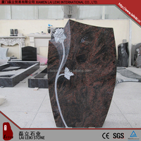 Low cost aurora polished white granite headstones