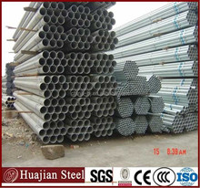 Green house used DC 01 Q195 hot dip galvanized steel pipe round Zinc galvanized steel tube