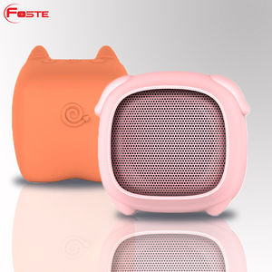 2018 Best New Silicone Cute Cartoon Music Mini Wireless Speakers Portable Bluetooth Speaker With Hands Free/Tf Card