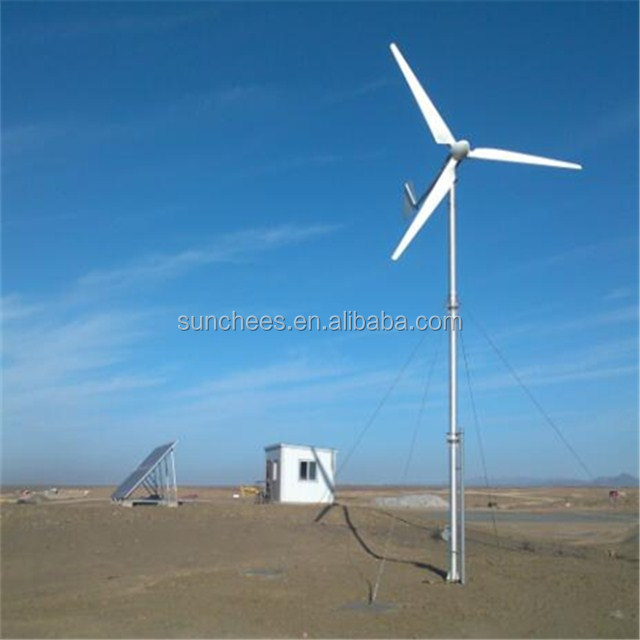 1KW wind turbine and 400W solar panel hybrid power system 48V battery wind solar hybrid charge controller