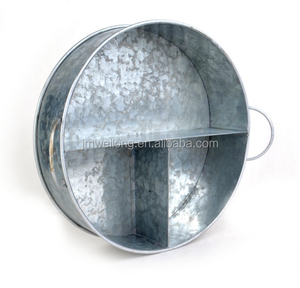 Chinese factory many different size metal food tray, round cheap metal tray