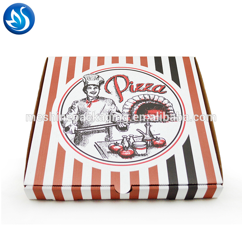 Wholesale Custom Printed Corrugated Cardboard Paper Pizza Box