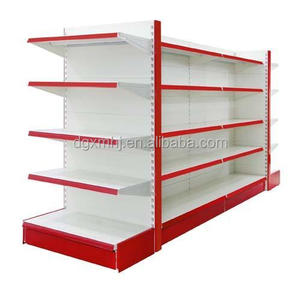 Double Side Metal Design Retail Rack Displays Supermarket Shelf And Rack