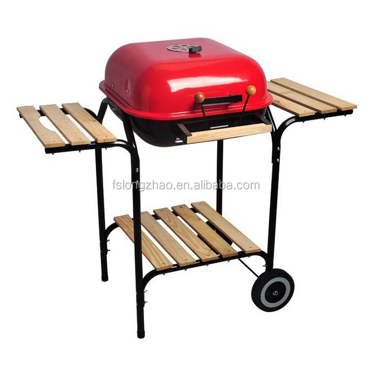 Multifunction bbq grill charcoal hamburg grill machine with side table