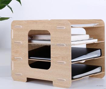 Custom Wooden Magazine File Holder Office File Holder - Buy Folder ...
