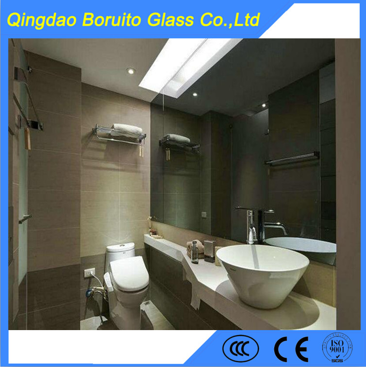 High quality 4mm Alu mirror with back vinyl