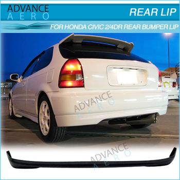 For 1996 1997 1998 1999 2000 Honda Civic 3 Door Tr Style Rear Bumper Lip Pu Hatchback Rear Lip Buy For 1996 1997 1998 1999 2000 Honda Civic 3 Door