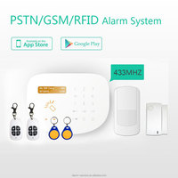 Home security wireless and wired Intelligent GSM Alarm System With 4 Bands+RFID keys