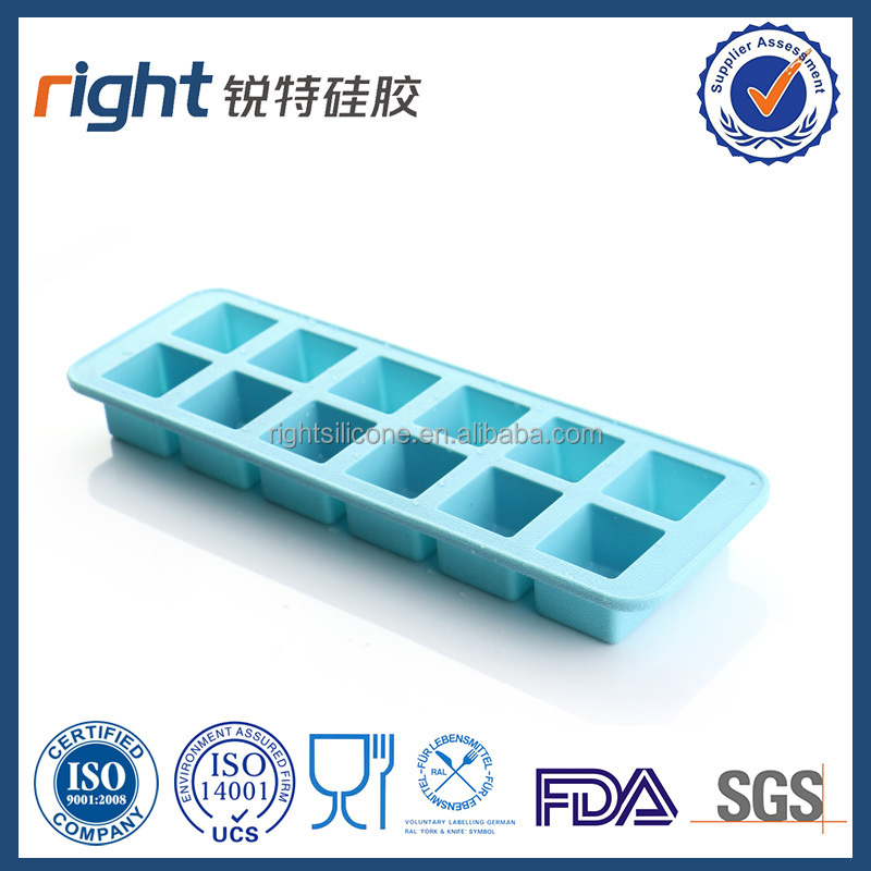 fda cube shaped silicone ice pop molds