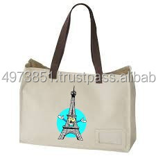 Fancy Pure handled Cotton Tote bag