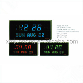 Electric Led Large Digital Wall Clock Showing Timeday Of Week