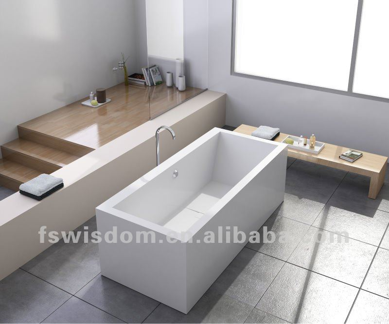 Corian Solid Surface Stone Bathtub Manufacturer Wd6541 - Buy ...
