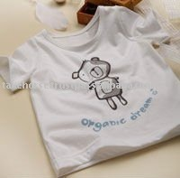 BB37 Organic cotton tee shirts Anti mosquito printed baby infant children adult tee