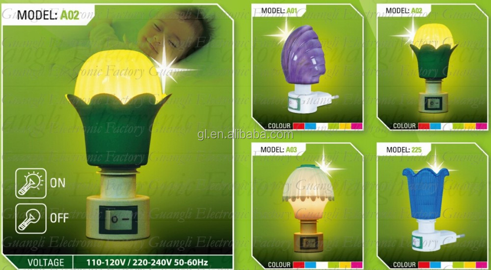 GL-A11 moon shape EVA mini switch LED nightlight CE ROHS approved HOT SALE promotional gift items