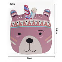 Wood Plastic Plate Cartoon Wall Decoration Animal Head Mural Children Room Decoration