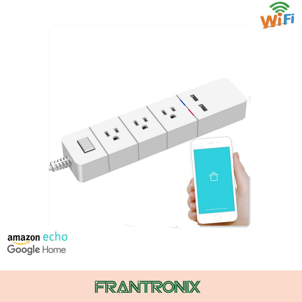 110v Smartphone Controlled Wifi Enabled Smart Power Strip Match Alexa