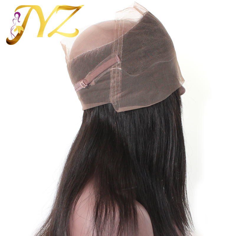 Grade 9A brazilian virgin hair straight 360 lace frontal closure
