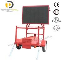 Buy Sunrise p10 outdoor solar traffic VMS led trailer sign, single ...