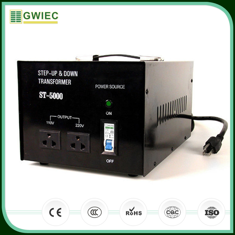 GWIEC Cheap Price AC Electrical 5000W Step Up Step And Down Transformer 110V To 220V