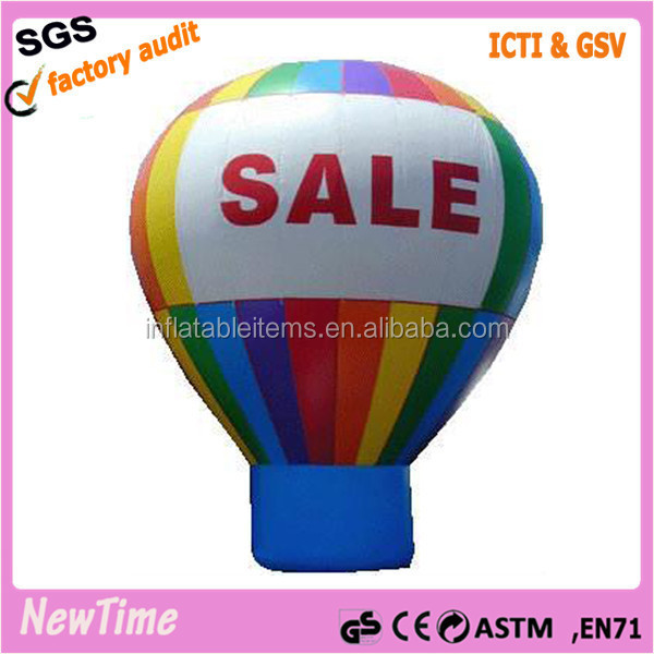 red inflatable helium balloon with logo