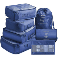 7 sets multi-functions waterproof travel luggage packing cubes organizer