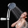 china factory supplier wholesale bathroom faucet abs plastic chrome plating 5 jets shower head