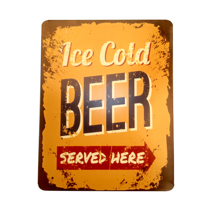 Old looking style beer sign custom size beer metal sign tin sign for bar cafe pubs decoration