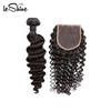 Mink Unprocessed Deep Wave Malaysian Hair Bundles With Closure Grade 8a 9a 10a Free Customized label China Vendor Fast Shipping