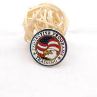 Chinese supplier american eagle badge Arts And Craft Lapel Pin badge