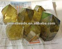 6 Sides Natural Citrine Quartz Crystal Points - Buy Crystal Points ...