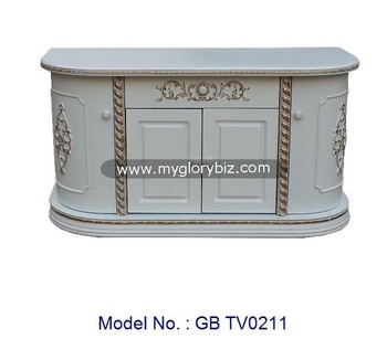 White Tv Cabinet Antique Style Mdf