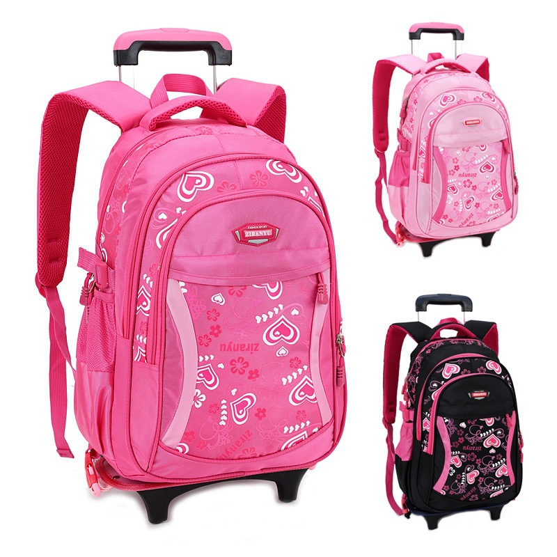 4707eba0cf Buy New 2015 Girls Bow Lovely Trolley School Bag Girls Rolling School Bags  Backpack on Wheels 2 Bags Set Mochila Escolar Infantil in Cheap Price on  Alibaba. ...