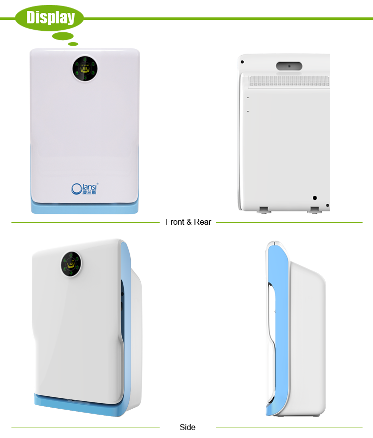 Low power consumption auto air purifier, discover negative ion air purifier