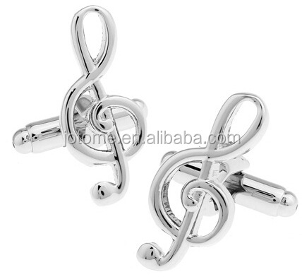 Men's Music Note Style French Shirts Cufflinks,Delicate Fashion Cuff-link for Music Lover