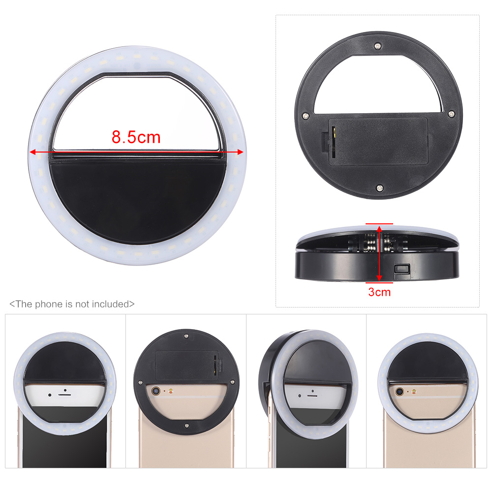 Led Selfie Ring Light 36led Supplementary Night Darkness For Mobile Phones High Quality Rechargeable  Selfie  Ring light