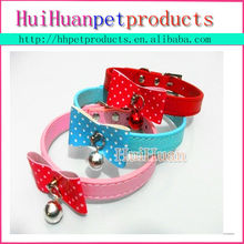 High quality leather rolled dog collar