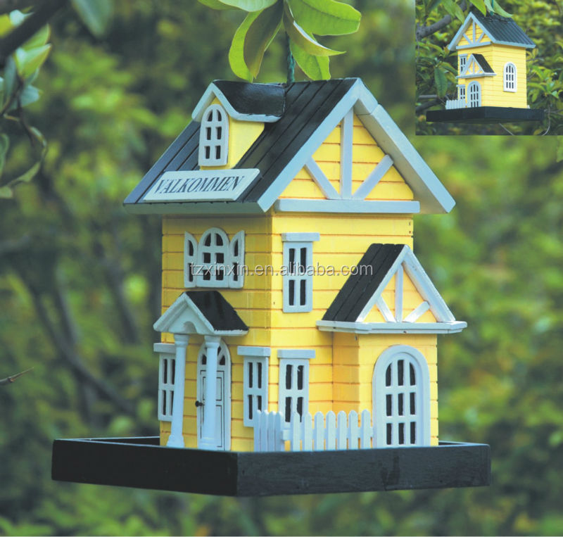 Wonderful MINI FSC Personality Wooden Bird House ,bird Cage ,outdoor Bird Feeder Kids  Lovely