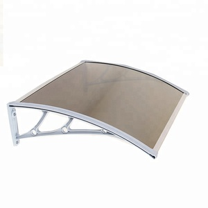 Combined outdoor polycarbonate waterproof awning canopy bracket retractable free standing awning