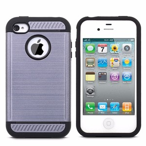 phone accessory 2 in 1 phone cover for iphone 4