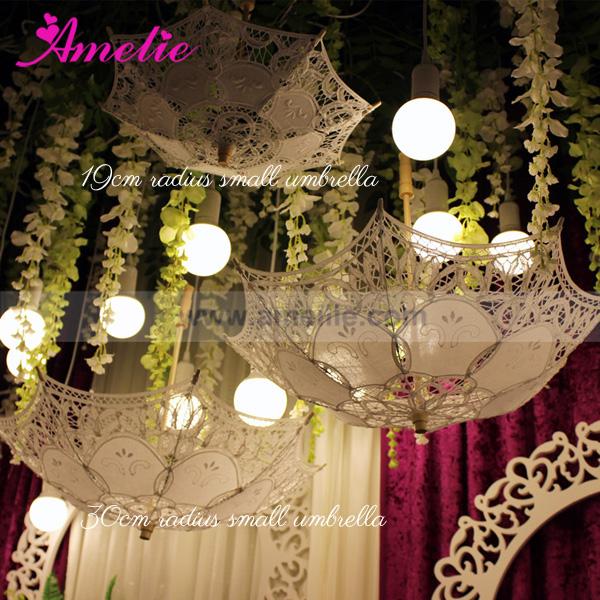 Party Baby Shower Decorative Lace Umbrella Parasols Hanging Wedding Favors