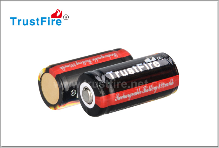 Shenzhen TrustFire batteries 16340 3.7v 880mah rechargeable durable battery with big promotion
