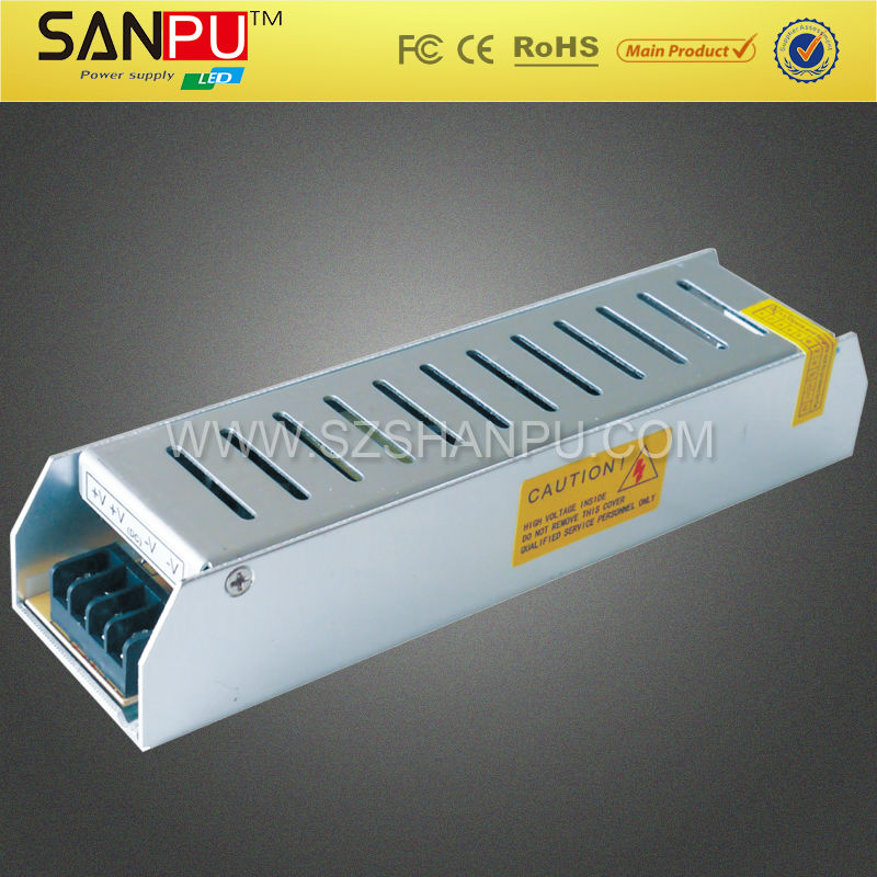 Long Strip IP20 Single Output 100W smps adaptor With CE ROHS