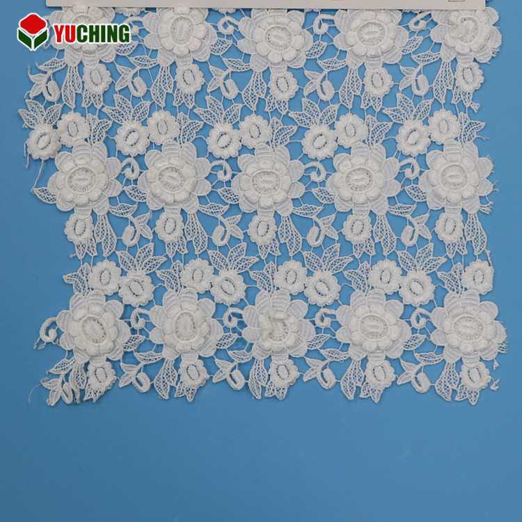 Wholesale perfect water soluble 3D polyester guipure rose flower allover african lace fabrics