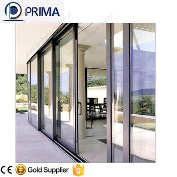 Commercial Double Aluminum Glass Frame Sliding Doorshigh Grade