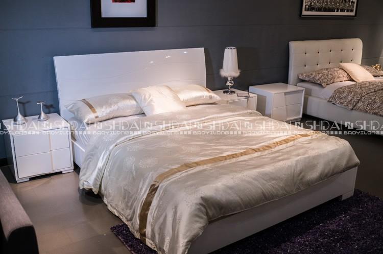 킹 사이즈 침대 크기 화이트 중국 현대 침대 프레임 - Buy Product on ...