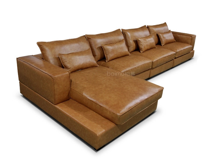contemporary chaise top grain leather italy design leather sofa on saleitaly sofamodern top grain