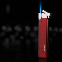 Super Long Slim Metal Windproof Creative Personalized Customized Gas Lighter AM213