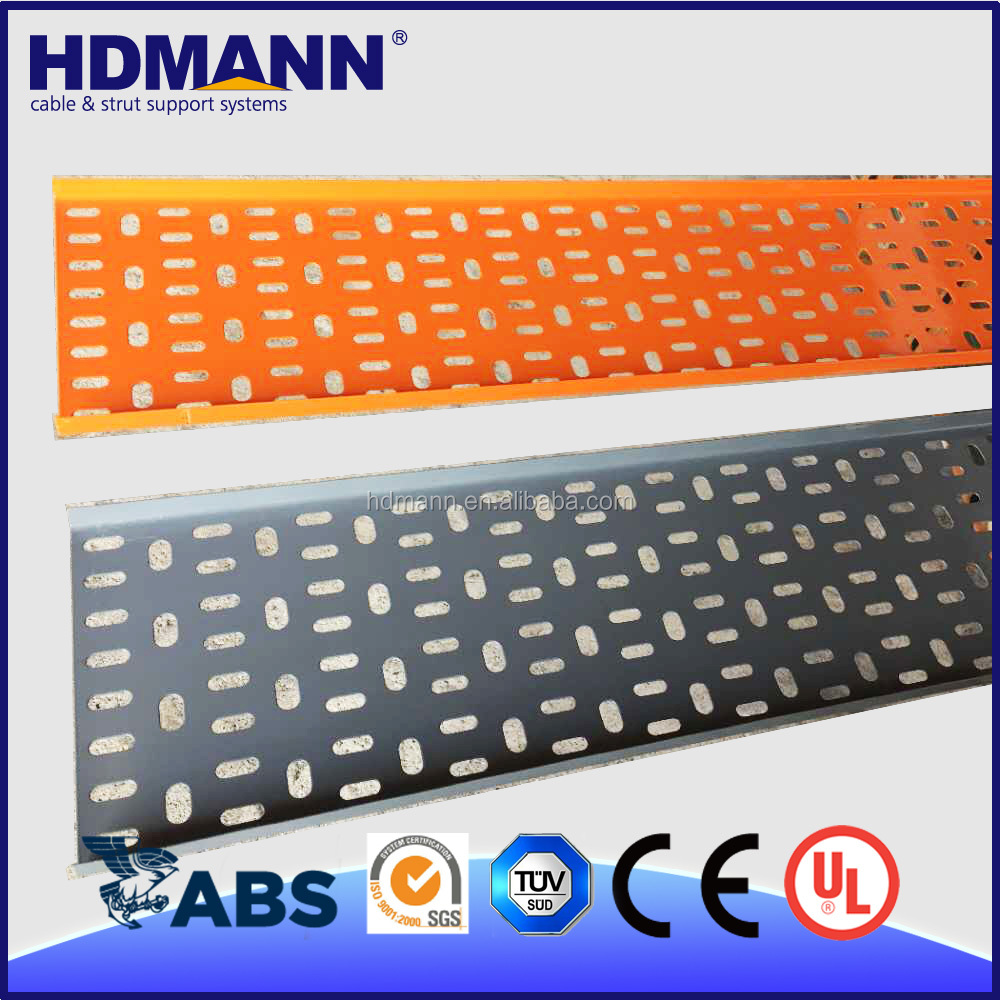 Powder Coated Perforated Trough Steel Cable Tray On Sale