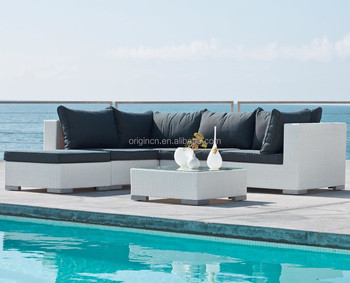 6 Piece Modern Outdoor Laguna Sectional Sofa With Ottoman Stan Cane Furniture